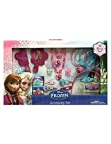 Disney Frozen Anna & Elsa 25 Piece Kids Jewelry and Hair Accessory Gift Set