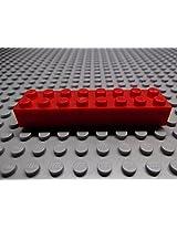 50x Lego Red 2X8 Brick