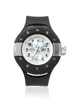 Invicta Men's 10001 S1 Rally Black/Silver Polyurethane Watch