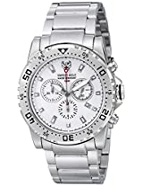 Swiss Eagle Analog White Dial Men's Watch - SE-9008-22