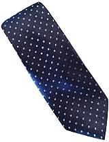 Michael Kors 100% Silk Dotted Men's Tie Dark Blue