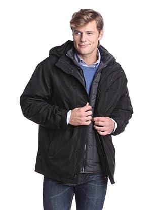 Calvin Klein Men's Rip Stop 3-in-1 Jacket (Black)