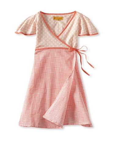 Zolima Girl's Crossover Dress (Retro Coral Pink)