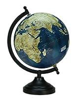 Rotating Navy Blue Color Globe Table Decor Ocean Geographical Earth Desktop Globe