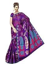 Saree Sansarr Saree (7114_Purple)