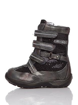 Billowy Botas Velcros (Negro)
