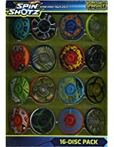Hot Wheels - Spin Shotz - Hyper Speed Track Discs - 16 Pack