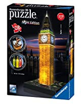 Ravensburger 3D Puzzles Big Ben Night Edition, Multi Color (216 Pieces)