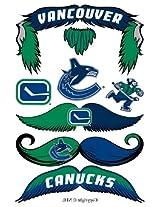 StacheTATS Vancouver Canucks Temporary Mustache Tattoos