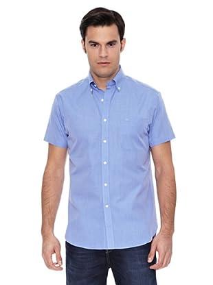 Pedro del Hierro Camisa Lino Liso Non Iron (Azul)
