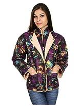 Fabpandora Womens Saree with Blouse Piece (Srk1013 _Multi-Coloured _Free Size)