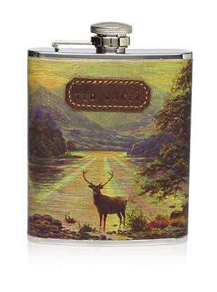 Ted Baker Stag Landscape Hip Flask