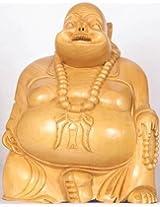Exotic India Laughing Buddha - Kadamba Wood Statue from Jaipur
