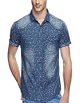 SPYKAR Men Cotton Dk.Blue Casual Shirt (XXX-Large)