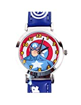 Captain America Super Soldier Kids Analog Watch - Blue