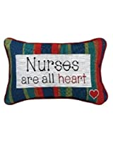 Manual 12.5 x 8.5-Inch Decorative Throw Pillow, Nurses Are All Heart