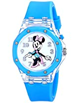 Disney Kids' MN1132 Minnie Mouse Watch with Blue Rubber Strap
