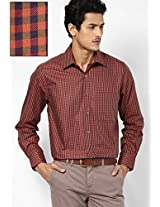 Red Full Sleeve Casual Shirts Peter England