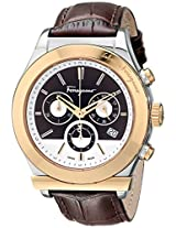 Salvatore Ferragamo Men F78LCQ9595 SB25 1898 Gold Ion-Plated Stainless Steel Watch