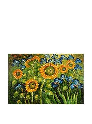 Arte dal Mondo  Wandbild Van Gogh Girasoli Ed Iris