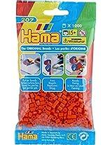 Bulk Buy:Hama Orange 207 04 Midi Beads 1,000 Count (6 Pack)