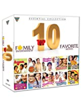 Top 10 Favorite Movies Essential Collection (Set of 10 DVDs- Angoor/Golmaal/Chupke Chupke/Bawarchi/Satte Pe Satta/Bheja Fry/Khuboosrat/Shaukeen/Khatta Meetha/Lankhon Ki Baat)