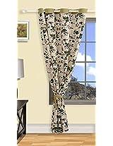 "Swayam Curtain Concept Printed Eyelit Cotton Door Curtain - 54""x90"", Beige (CURD-619 )"