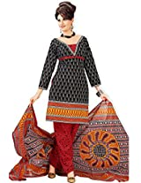 atisundar bewitching Black Traditional Cotton Printed Salwar Suit- 4329_39_5040