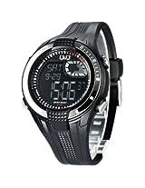 Q&Q Regular Analog-Digital Black Dial Men's Watch - M040-001