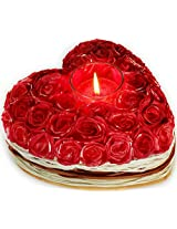 Deco Aro Big Rose Heart W/Aroma Candle-NFA165025