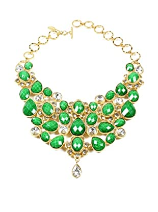 Amrita Singh Collar Crystal South Fork Bib Verde