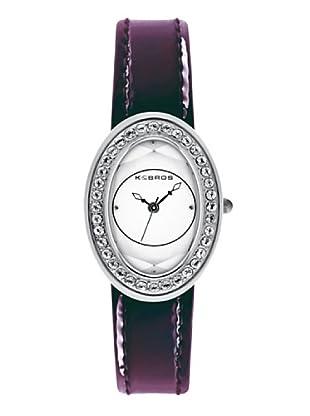 K&BROS 9159-3 / Reloj de Señora  con correa de piel morado