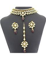 Designer Artificial Bridal Necklace Jewelry Set-US2647
