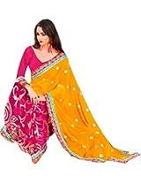 Indian Bollywood Designer Party Wear Stone Zar Work Georgette Brasso Sari