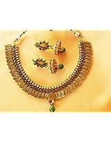 Gorgeous temple kasu necklace