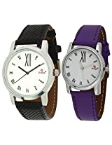 Evelyn Combo of Analogue White Dial Unisex Watch - Combo-PR-210