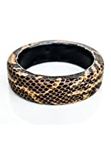 Devbeads Designer Brown Wood Bangle For Women