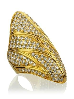 Joanna Laura Constantine Gold Pavé Lightning Ring
