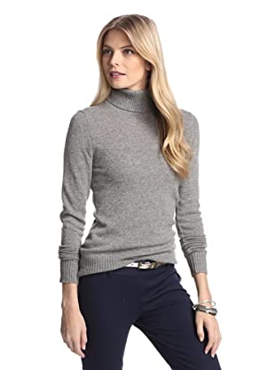 Cashmere Addiction Women's Long Sleeve Turtleneck Sweater (Cloud)