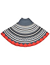 The Knit Factory Women's Acrylic Woolen Poncho (4001f_Multi-Colour)