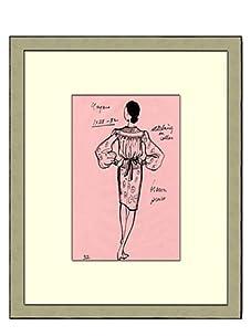Vintage Women's Ungaro Fashion Sketch c.1968