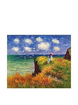 Arte Dal Mondo Pintura al Óleo sobre Lienzo Monet Passeggiata Sulla Scogliera