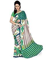 Cenizas Printed Chiffon Sari