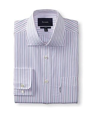 Façonnable Men's Club Fit Striped Dress Shirt (Pink Multi)