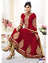Rozdeal Latest Maroon Fabulous Kriti sanon Designer Anarkali Suits