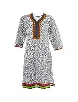 Handicraft Kottage Women's Cotton Green Long Sleeve Kurti