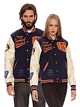 Grimey Wear Chaqueta Baseball Slash and Burn (Marino)