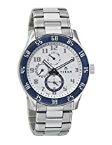 Titan Octane Analog White Dial Men's Watch - 1632SM01