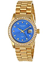 Akribos XXIV Men's AK488BU Impeccable Analog Display Japanese Quartz Gold Watch