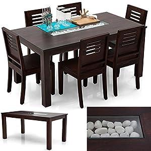 Urban Ladder Brighton-Capra Dining Table Set - 6 Seat